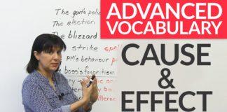 advance vocabulary of cause & effect