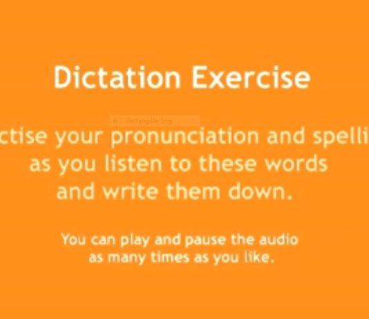 vocabulary exercise